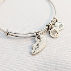 "Alex and Ani Best ""Friends"" Silver Charm Bracelet"